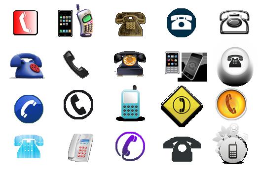 raccolta icone TELEFONO