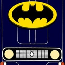 Papercraft auto: Renault 4 Batman